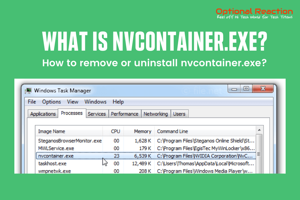 What Is nvcontainer.exe?