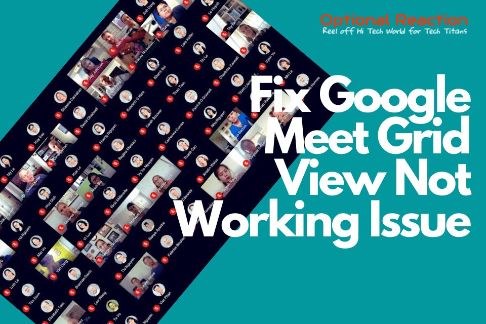 How to Fix Google Meet Grid View Not Working Issue